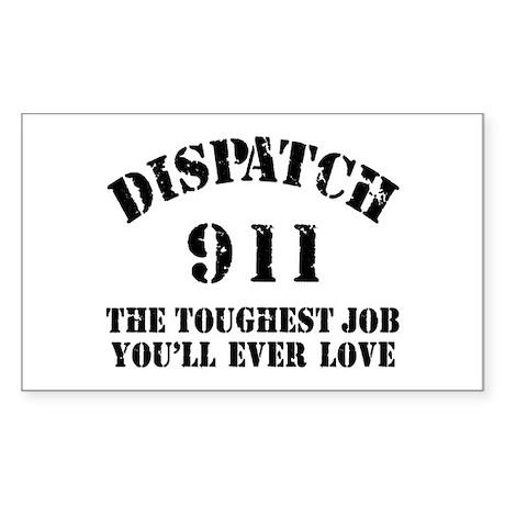 Tough Job 911 Rectangle Sticker