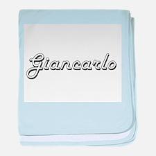 Giancarlo Classic Style Name baby blanket