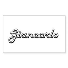 Giancarlo Classic Style Name Decal