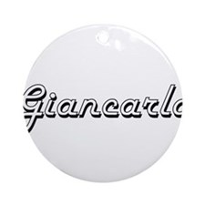 Giancarlo Classic Style Name Ornament (Round)