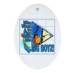 Basketball Oval Ornament