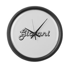 Giovani Classic Style Name Large Wall Clock