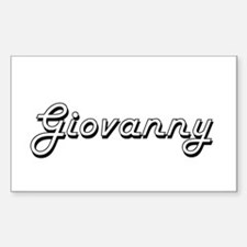Giovanny Classic Style Name Decal