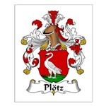 Plotz Family Crest Small Poster