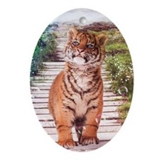 Tigers soap bubbles Ornament (Oval)