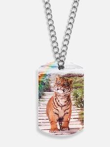 Tigers soap bubbles Dog Tags