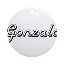 Gonzalo Classic Style Name Ornament (Round)