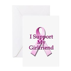 I Support My Girlfriend Greeting Card