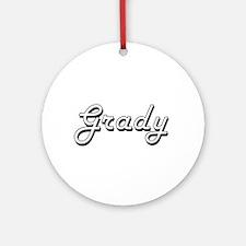 Grady Classic Style Name Ornament (Round)