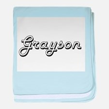 Grayson Classic Style Name baby blanket