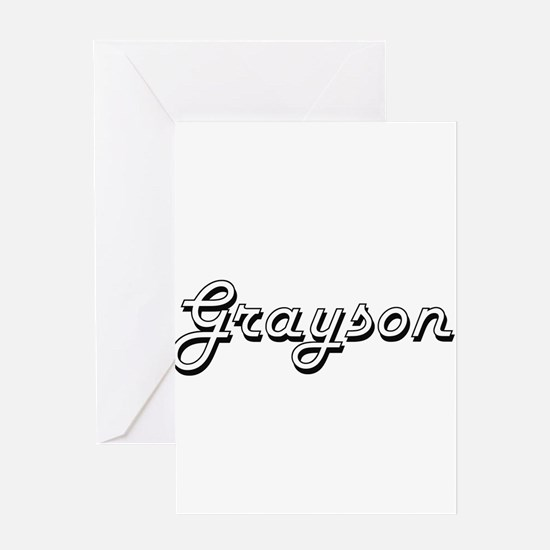Grayson Classic Style Name Greeting Cards