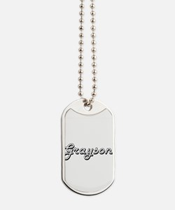 Grayson Classic Style Name Dog Tags