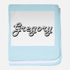 Gregory Classic Style Name baby blanket