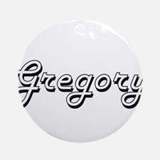 Gregory Classic Style Name Ornament (Round)
