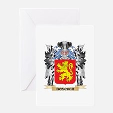 Boscher Coat of Arms - Family Crest Greeting Cards
