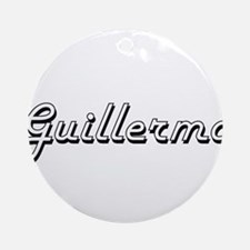 Guillermo Classic Style Name Ornament (Round)
