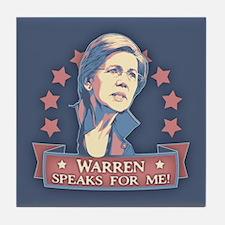 Warren Speaks For Me Tile Coaster