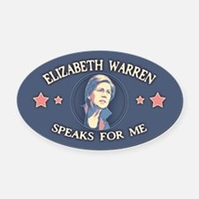 Warren Speaks For Me Oval Car Magnet