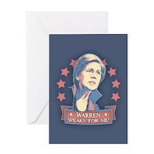 Warren Speaks For Me Greeting Card