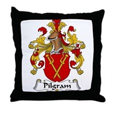 Pilgram Family Crest  Throw Pillow