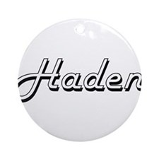 Haden Classic Style Name Ornament (Round)