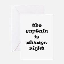 captain always right Greeting Card
