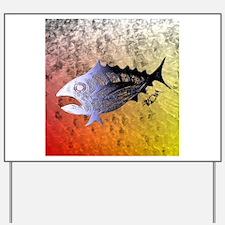 Stained Retro Tuna Scales. Fish Retro Tuna RCM Wil