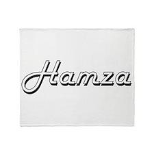 Hamza Classic Style Name Throw Blanket