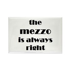 mezzo right Rectangle Magnet
