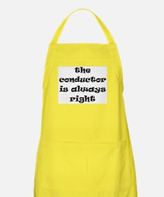 conductor always right Apron