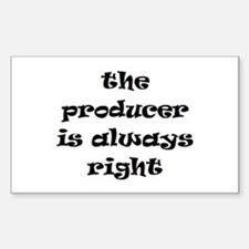 producer always right Decal