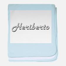 Heriberto Classic Style Name baby blanket