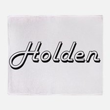 Holden Classic Style Name Throw Blanket