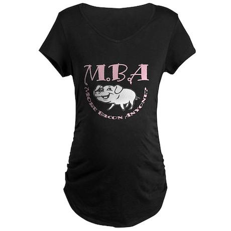 MBA Bacon Pig Maternity Dark T-Shirt