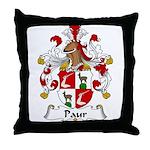 Paur Family Crest Throw Pillow