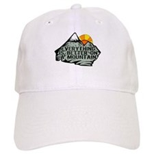 Everythings better on a mountain. Baseball Cap