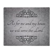 Serve The Lord Quote Throw Blanket