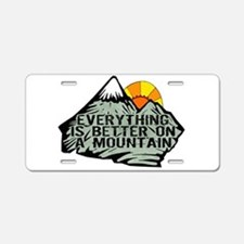 Everythings better on a mou Aluminum License Plate