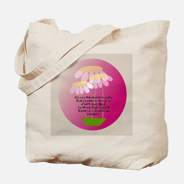 Social Worker Quote Tote Bag