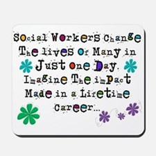 Social Worker Quote Mousepad