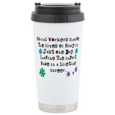 Social Worker Quote Travel Mug