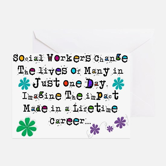Social Worker Quote Greeting Cards