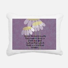 Social Worker Quote Rectangular Canvas Pillow