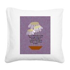 Social Worker Quote Square Canvas Pillow