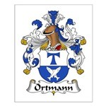 Ortmann Family Crest Small Poster