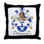 Ortmann Family Crest Throw Pillow