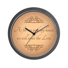Serve The Lord Quote Wall Clock