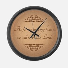 Serve The Lord Quote Large Wall Clock