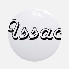 Issac Classic Style Name Ornament (Round)