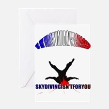Skydiving Fail. Greeting Cards